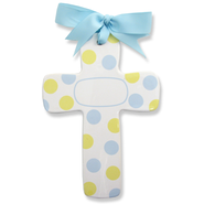 Bubble Dot Cross, Personalize, Blue  -