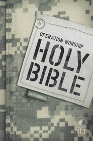 NLT Operation Worship Compact Bible, Army Softcover  -