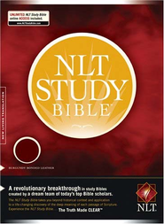 NLT Study Bible, Bonded Leather--Burgundy  -