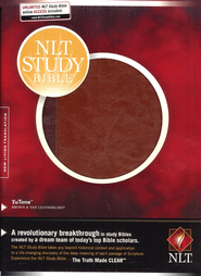 NLT Study Bible, TuTone Imitation Leather Brown/Tan Thumb-Indexed   -