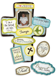 I am the Bread of Life First Communion Cross with Magnet Set  -