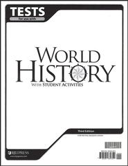 BJU World History Grade 10 Tests, Third Edition    -