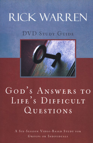 God's Answers to Life's Difficult Questions, Study Guide - Slightly Imperfect  -