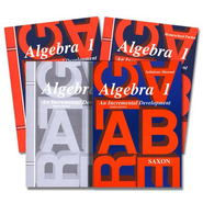 Saxon Algebra 1 Homeschool Kit with Solutions Manual, 3rd Edition   -
