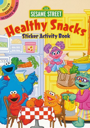 Sesame Street Healthy Snacks Sticker Activity Book  -