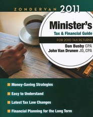 Zondervan 2011 Minister's Tax & Financial Guide   -              By: Dante Busby