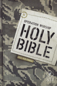 NLT Operation Worship Compact Bible, Air Force Softcover  -