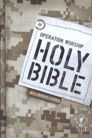 NLT Operation Worship Compact Bible, Marine Corps Softcover  -