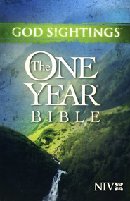 NIV God Sightings: The One Year Bible, Paperback 1984  -