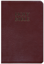 NKJV Personal-size Giant Print Reference Bible, Bonded leather, Burgundy  -