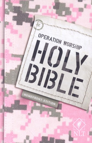NLT Operation Worship Compact Bible, Military Families Softcover  -     By: Tyndale