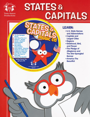 States & Capitals Activity Book & CD   -