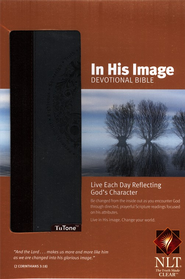 NLT In His Image Devotional Bible, TuTone Leatherlike  -     By: Bright Media Foundation