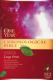 NLT One Year Chronological Bible, Large Print Softcover  -