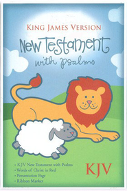 KJV Baby's New Testament w/Psalms, Bonded leather, White   -