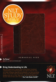 NLT Study Bible, Personal Size TuTone Leatherlike Brown/Tan  -