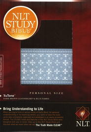 NLT Study Bible, Personal Size TuTone Leatherlike Brown/Blue  -