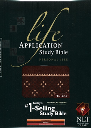 NLT Life Application Study Bible, Personal Size TuTone Leatherlike Brown/Coral  -