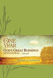 The One Year God's Great Blessings Devotional, Leatherlike  -              By: Patricia Raybon