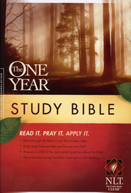 The NLT One Year Study Bible, Hardcover  -