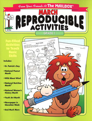 March Monthly Reproducible Activities, Grade 1   -