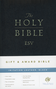 ESV Gift and Award Bible Imitation Leather, Black  -