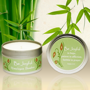 The Be Series Candle Tin, Be Joyful, Himalayan Bamboo  -