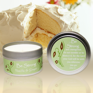 The Be Series Candle Tin, Be Strong, Vanilla & Ginger  -
