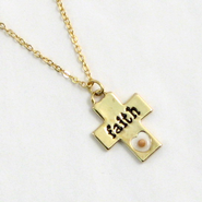 Mustard Seed Cross Pendant, Faith  -