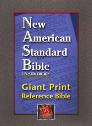 NAS Giant Print Reference Bible, Imitation leather, Black   -