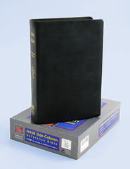 NAS Reference Bible, Premium Calfskin Leather, Black   -              By: Bible