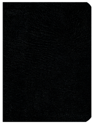 NASB Large-Print UltraThin Reference Bible--genuine leather, black  -