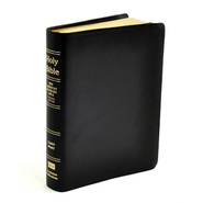 NASB Giant Print Reference Bible, Genuine Leather, black   -