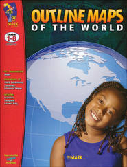Outline Maps of the World Gr. 1-8  -
