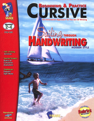 Beginning & Practice Cursive: Sailing Through Handwriting, Modern Style  -
