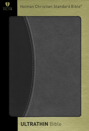 HCSB UltraThin Bible, Black/Gray Duotone Simulated Leather - Slightly Imperfect  -