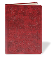 Names of Jesus LuxLeather Journal, Red   -