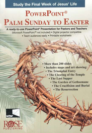 Palm Sunday to Easter: PowerPoint CD-ROM  -