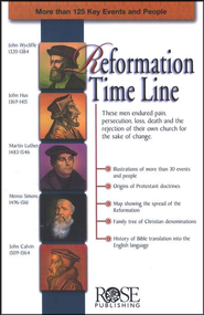 Reformation Time Line, Pamphlet   -