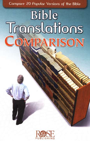 Bible Translations Comparison, Pamphlet   -