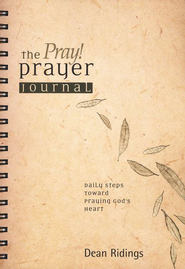The PRAY! Prayer Journal: Daily Steps Toward Praying God's Heart  -     By: Dean Ridings