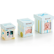 Baby's Firsts Keepsake Boxes, Set of 3, Blue  -