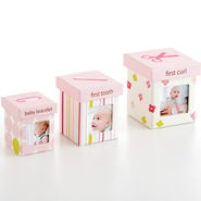 Baby's Firsts Keepsake Boxes, Set of 3, Pink  -