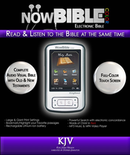 NowBible Color, KJV--Audio/Video Bible Reader (4GB)  -              Narrated By: Stephen Johnston                   By: Narrated by Stephen Johnston