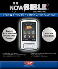 NowBible Color, NKJV--Audio/Video Bible Reader (4GB)  -     Narrated By: Stephen Johnston     By: Narrated by Stephen Johnston