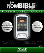 NowBible Color, NASB--Audio/Video Bible Reader (4GB)  -              Narrated By: Stephen Johnston                   By: Narrated by Stephen Johnston