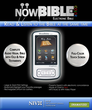 NowBible Color, NIV (Dramatized)--Audio/Video Bible Reader (4GB)  -