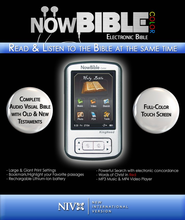 NowBible Color, NIV (Voice Only)-Audio/Video Bible Reader   -     Narrated By: Charles Taylor     By: Narrated by Charles Taylor