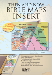 Then and Now Bible Maps Insert   -