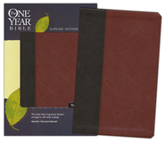The NKJV One Year Bible, TuTone Brown/Tan Leatherlike  -